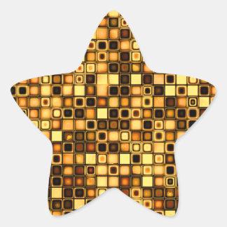 Modelo texturizado terracota quemado de las tejas calcomanía forma de estrella