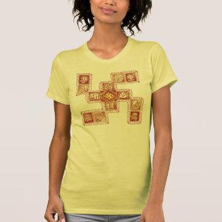 Modelo tradicional de la cruz gamada camiseta