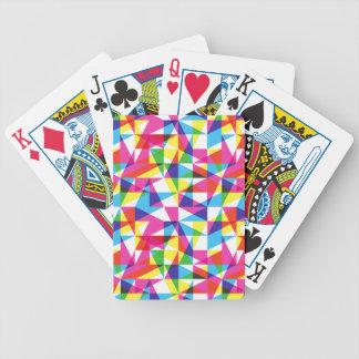 Modelo transparente de los triángulos barajas de cartas