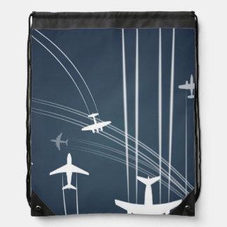 Modelo traslapado de las trayectorias de vuelo mochilas