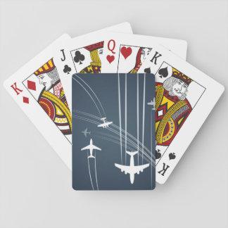 Modelo traslapado de las trayectorias de vuelo cartas de póquer