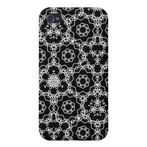 Modelo triangular blanco y negro iPhone 4/4S funda