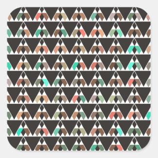 Modelo triangular bohemio pegatina cuadrada