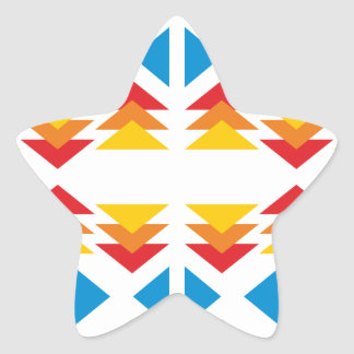 Modelo triángulo pattern triangles pegatina en forma de estrella
