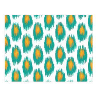 Modelo tribal abstracto anaranjado del círculo de postales