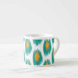 Modelo tribal abstracto anaranjado del círculo de tazita espresso