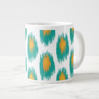 Modelo tribal abstracto anaranjado del círculo de tazas extra grande