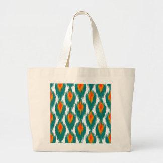Modelo tribal abstracto anaranjado del diamante de bolsas lienzo