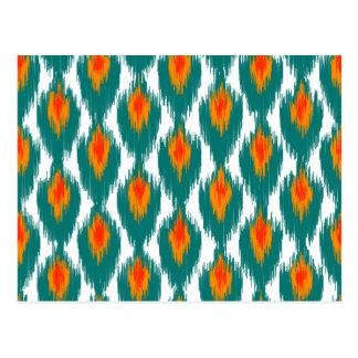 Modelo tribal abstracto anaranjado del diamante de tarjetas postales