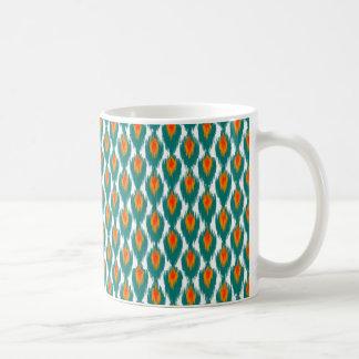 Modelo tribal abstracto anaranjado del diamante de tazas de café