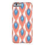 Modelo tribal abstracto azul rosado del diamante funda de iPhone 6 barely there