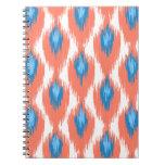 Modelo tribal abstracto azul rosado del diamante cuadernos