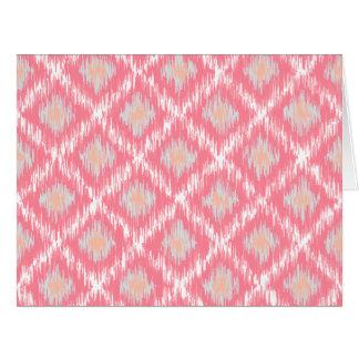 Modelo tribal abstracto rosado del diamante de tarjeton