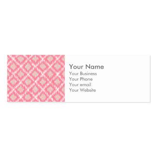 Modelo tribal abstracto rosado del diamante de tarjetas de visita mini