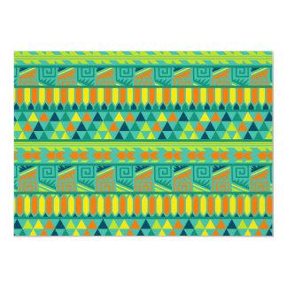 """Modelo tribal azteca abstracto colorido de la invitación 5"""" x 7"""""""