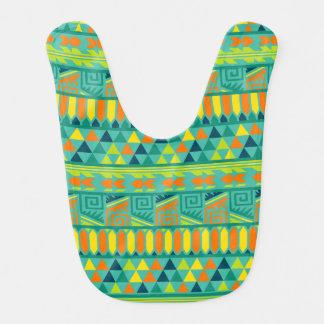 Modelo tribal azteca abstracto colorido de la baberos de bebé