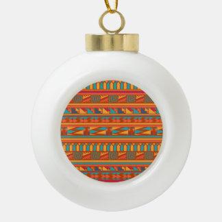 Modelo tribal azteca abstracto de la impresión de adorno de cerámica en forma de bola