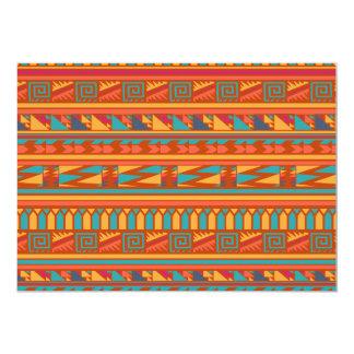 Modelo tribal azteca abstracto de la impresión de invitaciones personalizada