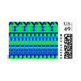 Modelo tribal azteca abstracto de la impresión de envio
