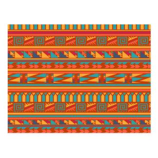 Modelo tribal azteca abstracto de la impresión de tarjeta postal