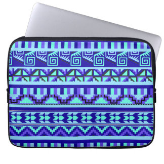 Modelo tribal azteca abstracto geométrico azul de manga computadora