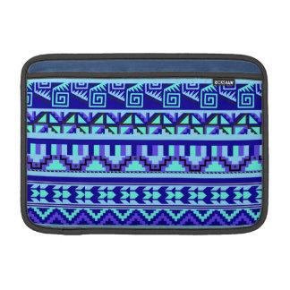 Modelo tribal azteca abstracto geométrico azul de funda  MacBook