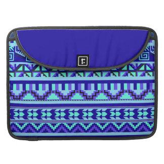 Modelo tribal azteca abstracto geométrico azul de funda macbook pro