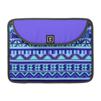 Modelo tribal azteca abstracto geométrico azul de fundas macbook pro