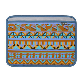 Modelo tribal azteca abstracto geométrico de la fundas macbook air
