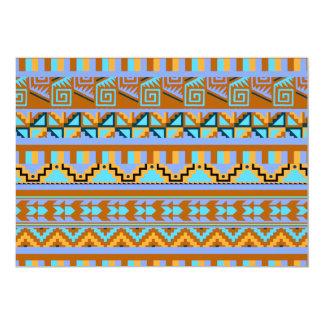 """Modelo tribal azteca abstracto geométrico de la invitación 5"""" x 7"""""""