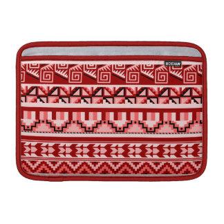 Modelo tribal azteca abstracto geométrico rosado fundas macbook air