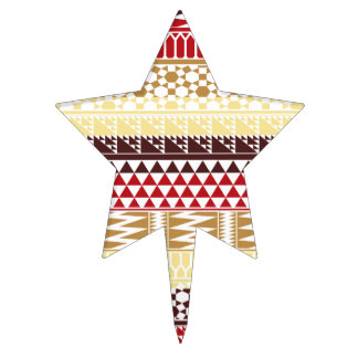 Modelo tribal azteca abstracto rojo poner crema de decoración de tarta