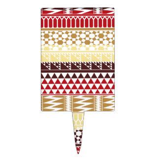 Modelo tribal azteca abstracto rojo poner crema de figura para tarta