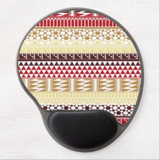 Modelo tribal azteca abstracto rojo poner crema de alfombrilla gel