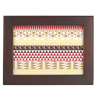 Modelo tribal azteca abstracto rojo poner crema de cajas de recuerdos