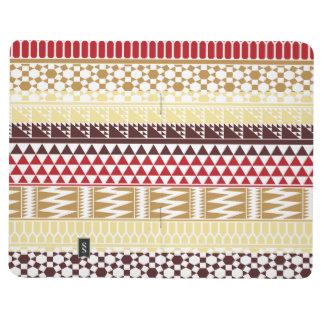 Modelo tribal azteca abstracto rojo poner crema de cuadernos grapados