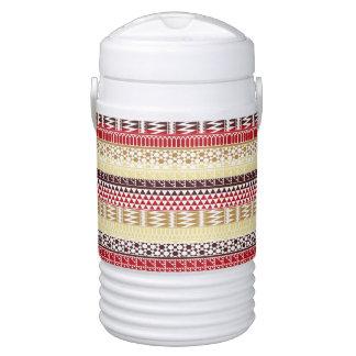 Modelo tribal azteca abstracto rojo poner crema de enfriador de bebida igloo