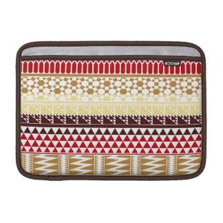 Modelo tribal azteca abstracto rojo poner crema de funda macbook air