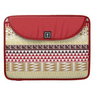 Modelo tribal azteca abstracto rojo poner crema de fundas macbook pro