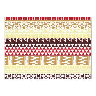 """Modelo tribal azteca abstracto rojo poner crema de invitación 5"""" x 7"""""""