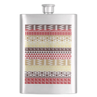 Modelo tribal azteca abstracto rojo poner crema de cantimploras