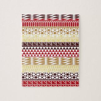 Modelo tribal azteca abstracto rojo poner crema de rompecabezas con fotos