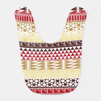 Modelo tribal azteca abstracto rojo poner crema de babero