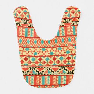 Modelo tribal azteca abstracto rosado de la babero de bebé