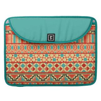 Modelo tribal azteca abstracto rosado de la funda para macbooks