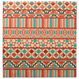 Modelo tribal azteca abstracto rosado de la servilletas imprimidas