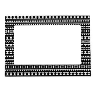 Modelo tribal azteca blanco y negro marcos magneticos