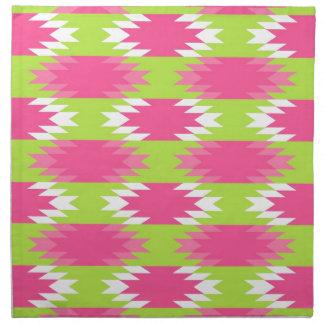 Modelo tribal azteca de la verde lima de las rosas servilleta imprimida