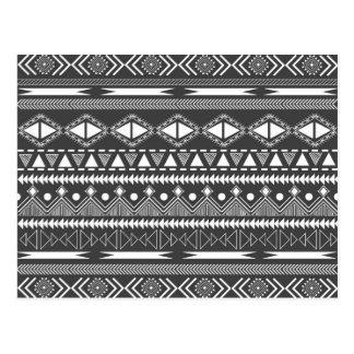 Modelo tribal azteca de moda fresco impresionante tarjetas postales