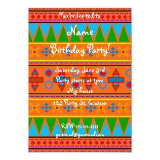modelo tribal azteca del arco iris anaranjado anuncio
